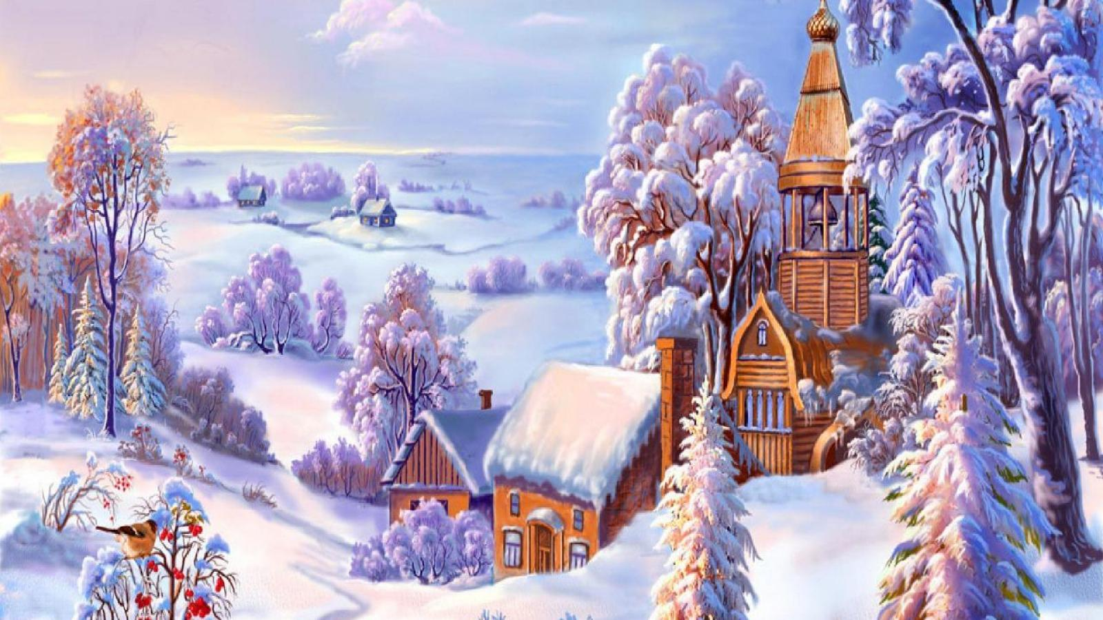 ваш смотреть сказочные картинки зимние девушка прочь